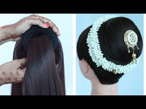 how-to-make-big-bun-hairstyle-with-trick-||-new-hairstyle-||-ladies-hairstyle-||-prom-hairstyles