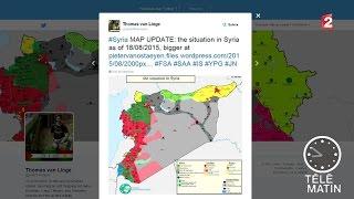 Le meilleur cartographe de la situation en Syrie est un lycéen - 2015/09/01