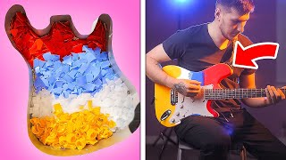 RAINBOW ELECTRIC GUITAR || Jaw-Dropping DIY Crafts With Plastic, Resin, Wood And Jewelry