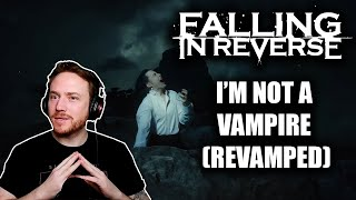 REACTING to FALLING IN REVERSE (I'm Not A Vampire  - Revamped) 🚫🧛‍♂️🦇