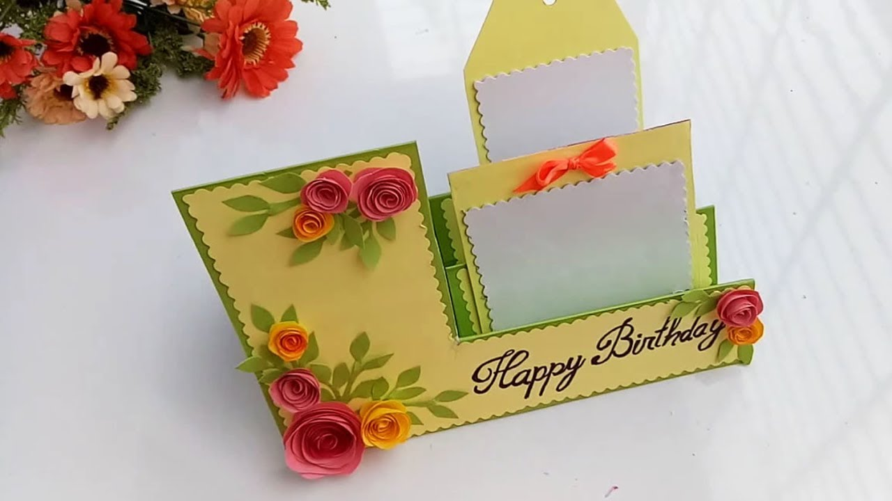 Beautiful Handmade Birthday Card How To Make Mukta Art Craft