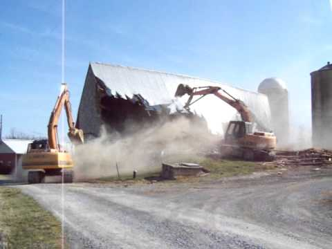 Watch This Barn Collapse 200 Year Old Comes Crashing Down