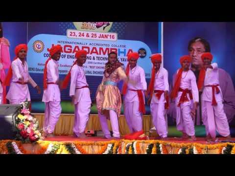 Malhari dance by electro mech in jcet wings16