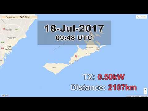 [Sporadic-E] 88.5  RTT Radio Sfax from Kerkennah, Tunisia. 2107km / 500W TX!