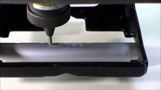 Portable Dot Peen Engraving on Round Tube