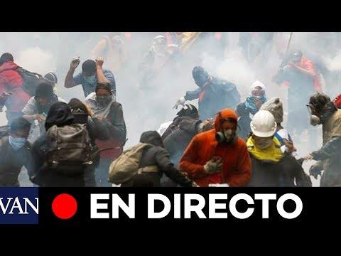 EN DIRECTO CRISIS ECUADOR | Choque entre manifestantes y policía en Quito