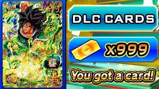 NEW BROLY MOVIE FREE DLC x999 TICKET SUMMONS! Dragon Ball Heroes World Mission ALL DLC Cards