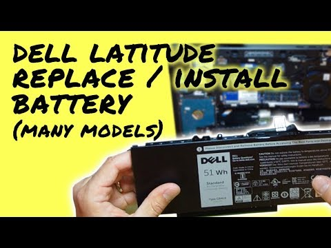 How to Replace Battery on Dell Latitude Laptop / Notebook (Easy