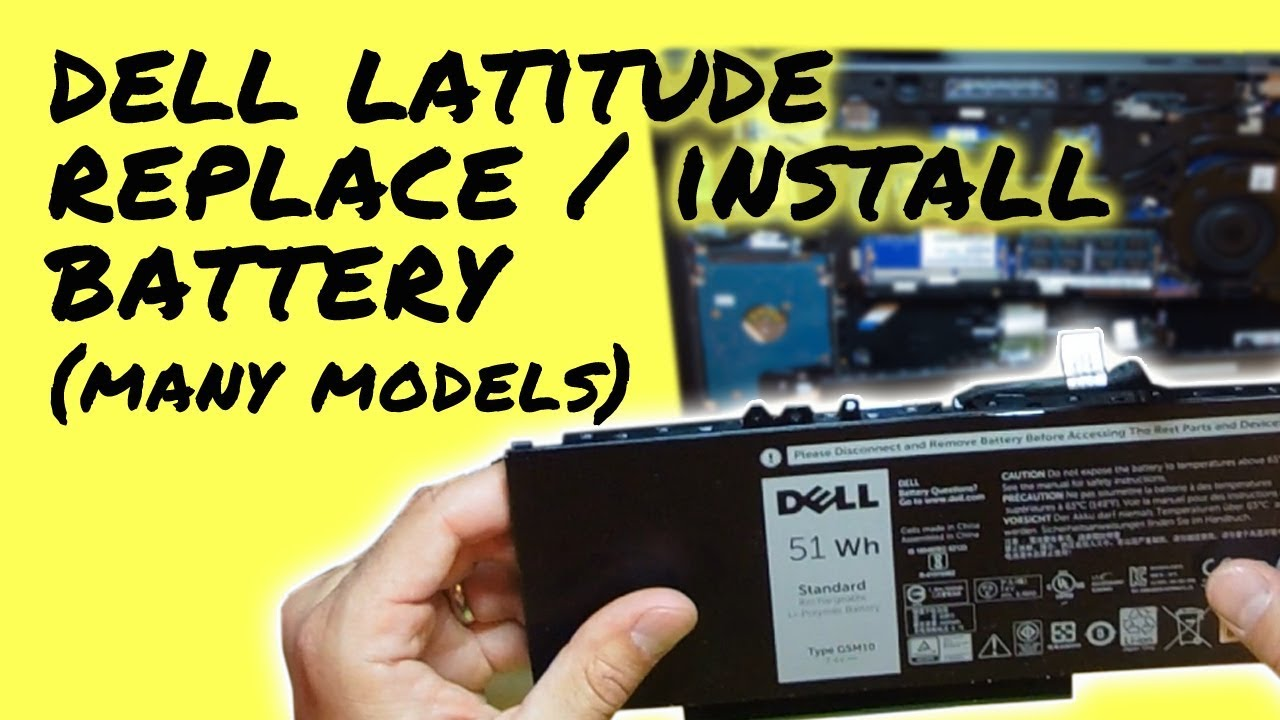 How To Replace Battery On Dell Latitude Laptop Notebook Easy Computer Wiring Diagram