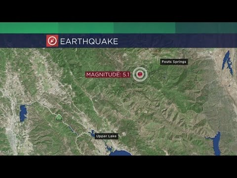 Magnitude 5.1 Earthquake Shakes Northern California