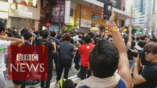 Hong Kong: What is life like as a protester? BBC News