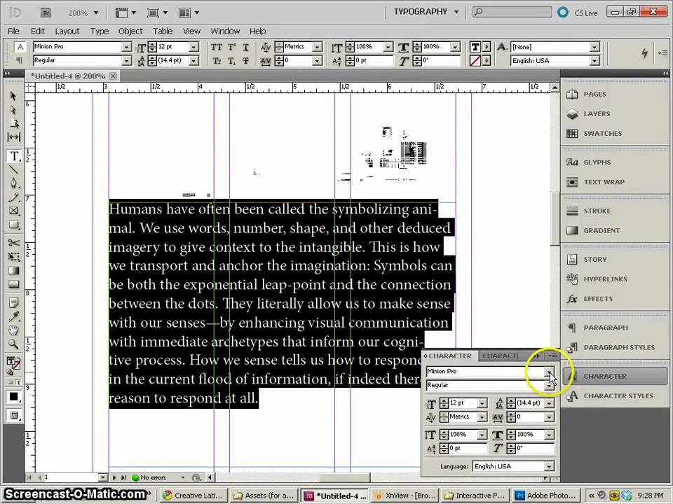 In Design Layout Template