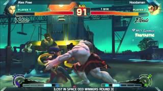 SSF4: Hoodaman vs Alex Free - LOST IN SPACE 003
