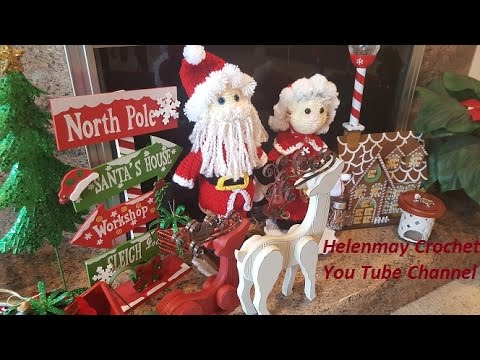 Crochet Mr. and Mrs. Santa Claus Heirloom Dolls Part 1 of 4