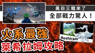 終於有新團體戰!萊希拉姆是火系一哥?100IVu0026最佳隊伍攻略!| Pokemon GO | 精靈寶可夢 | rios arc 弧圓亂語