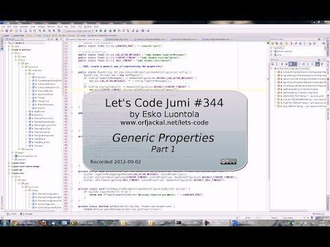 Let's Code Jumi #344: Generic Properties (Part 1)