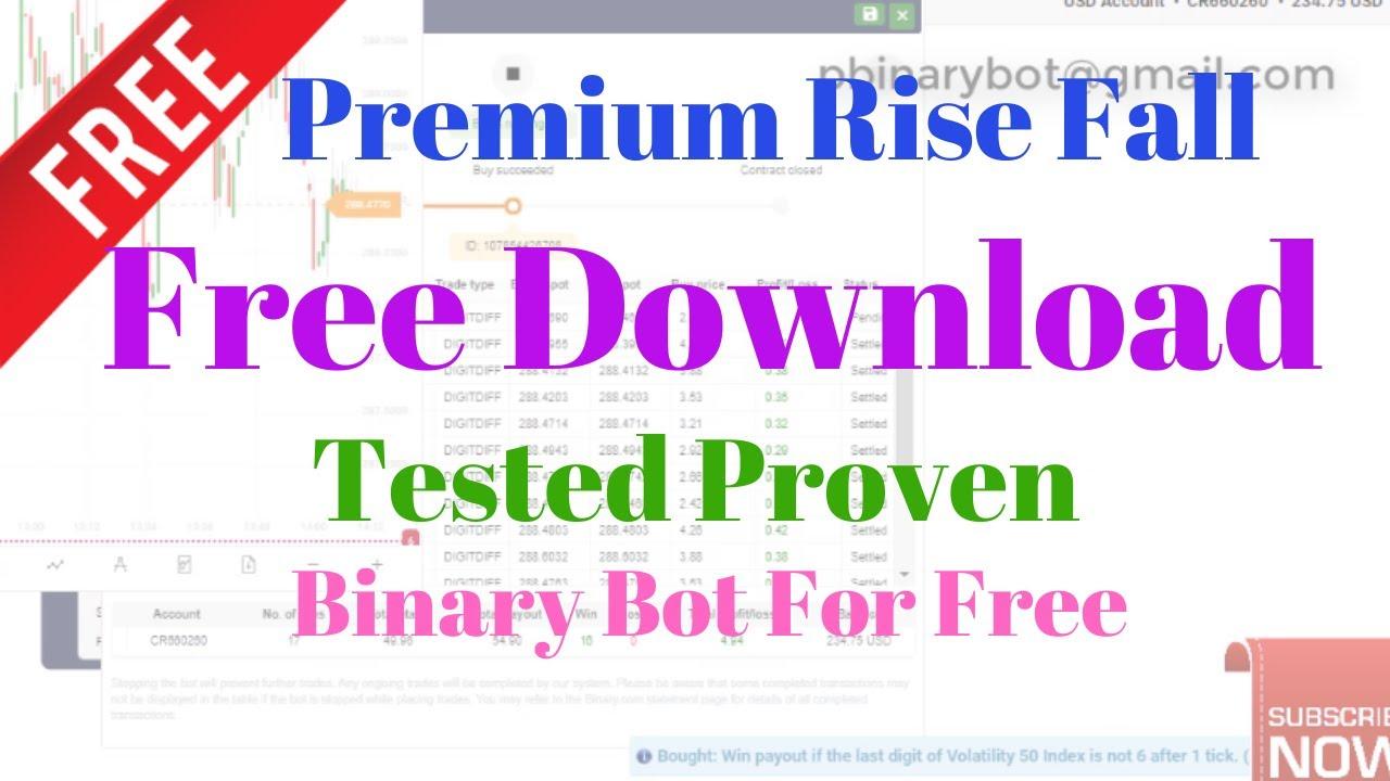 Free Binary.com Bot - Premium Rise Fall Binary Bot   Tested Proven Binary Bot For Free