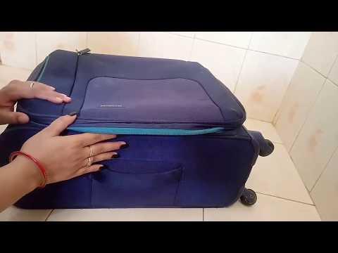 ट्रॉली बैग को घर पे ही आसानी से साफ करे सिर्फ 5 मिनट में। How to clean luggage/trolly bag at home||