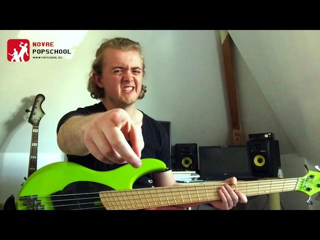 Novae Popschool bass-tips | Bass Minute #3 - Muse Psycho  (deel 3)