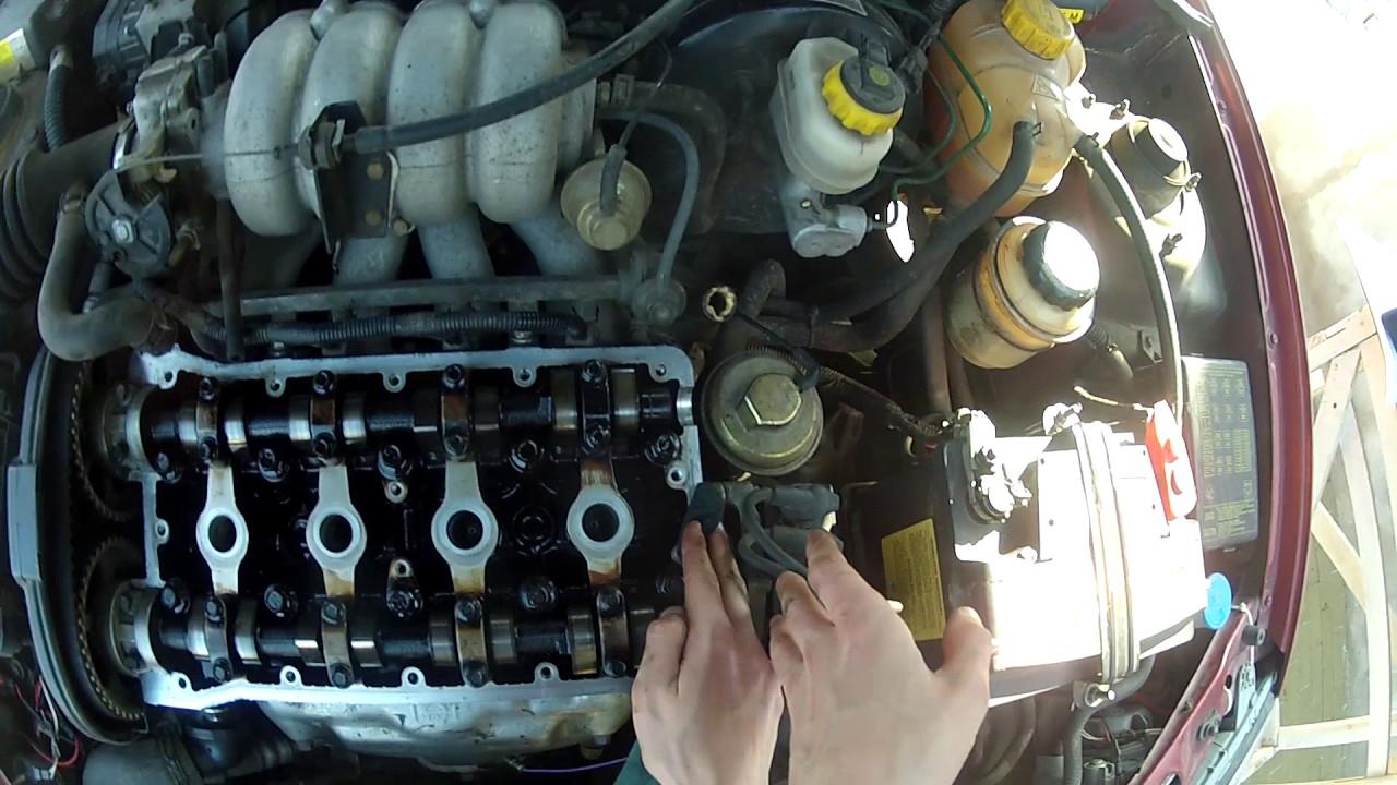 замена прокладки клапаной крышке chevrolet lanos