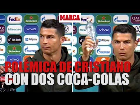 Cristiano quita dos Coca-Colas de la mesa de la sala prensa y reclama agua I MARCA