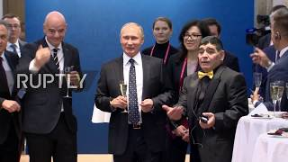 Video Putin's toast with football legends ahead of World Cup draw download MP3, 3GP, MP4, WEBM, AVI, FLV Desember 2017
