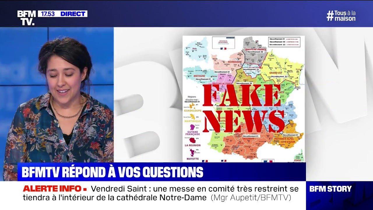 """Cette """"carte de France du déconfinement"""" est-elle authentique?"""