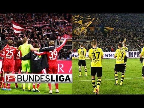 Dortmund and Bayern Fans Show Their Love