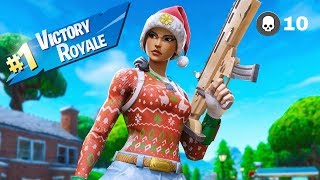 Epic Nog Ops Skin Gameplay - 10 Elims Crazy Duos Ending | Fortnite Season 9