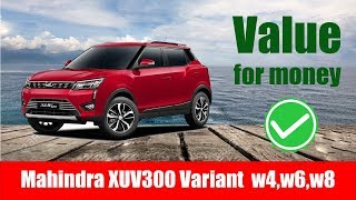 Mahindra XUV300 variants (W4,W6,W8) explained with features and price