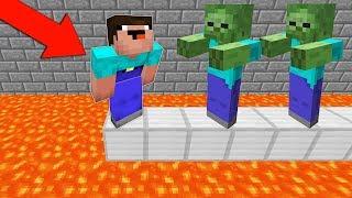 ЗОМБИ СЕЙЧАС СКИНУТ НУБА В ЛАВУ МАЙНКРАФТ  НУБ ПРОТИВ ТРОЛЛИНГ ЛОВУШКА Minecraft Мультик