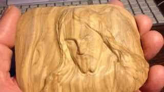 Jesus The Carpenter Carved Out Of Olive Wood - Paper Weight