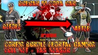 CONFIG BUNDLE GOLD ROYALE JADI FULL SET FRONTAL GAMING + TAS FREE FIRE UPDATE | GARENA FREE FIRE