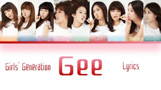 "Girls' Generation (소녀시대)- ""Gee"" Color Coded Lyrics Han/Rom/E…"