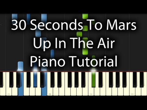 30 Seconds to Mars  Up In the Air Tutorial How to Play on Piano