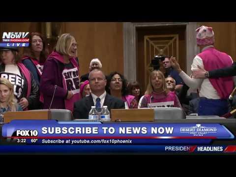 PROTESTERS Crash Rex Tillerson Senate Vote