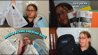 BACK TO SCHOOL SUPPLIES HAUL + PACK MY BACKPACK W/ ME ✰ 2018