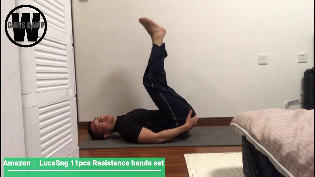 Download LucaSng 11Pcs Resistance Bands Tutorial (Abs Workout)