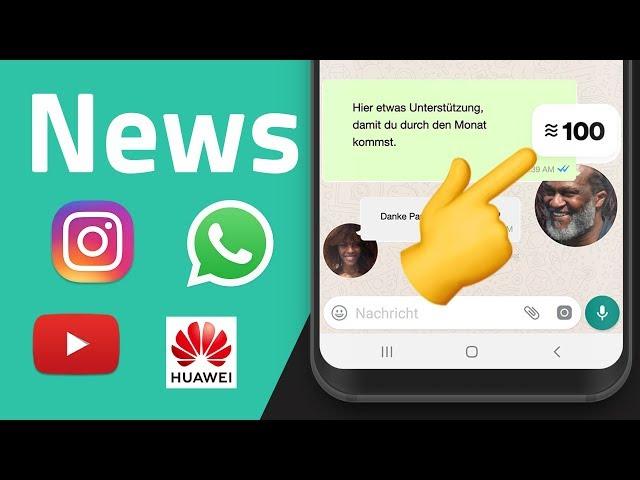 WhatsApp Geld Libra, Gehackte Instagram Accounts, kostenlose Netflix-Konkurrenz
