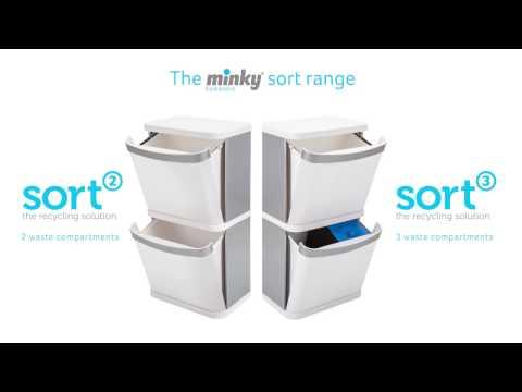 Minky Sort2 60 Litre Recycling Bin