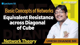 Equivalent Resistance across Diagonal of Cube   Network Theory