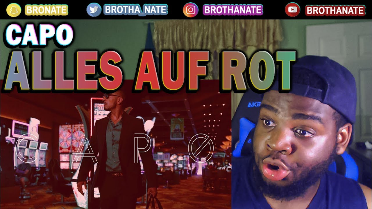 capo alles auf rot official hd video reaction youtube. Black Bedroom Furniture Sets. Home Design Ideas