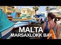 MALTA, MARSAXLOKK WALKING TOUR - Market and Fishing Boats