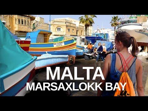 MALTA (2019) MARSAXLOKK WALKING TOUR - Market And Fishing Boats