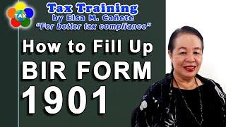 How to Fill Up BIR Form No. 1901