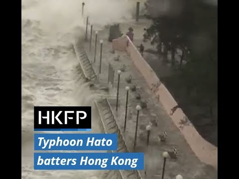 Typhoon Hato causes flooding in Hong Kong as city raises highest storm warning