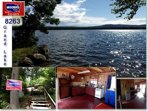 Maine Real Estate On East Grand Lake, A Log Vacation Home For Sale #8262