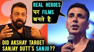 Akshay Kumar MEAN COMMENT On Sanju Film | Sanjay Dutt Biopic