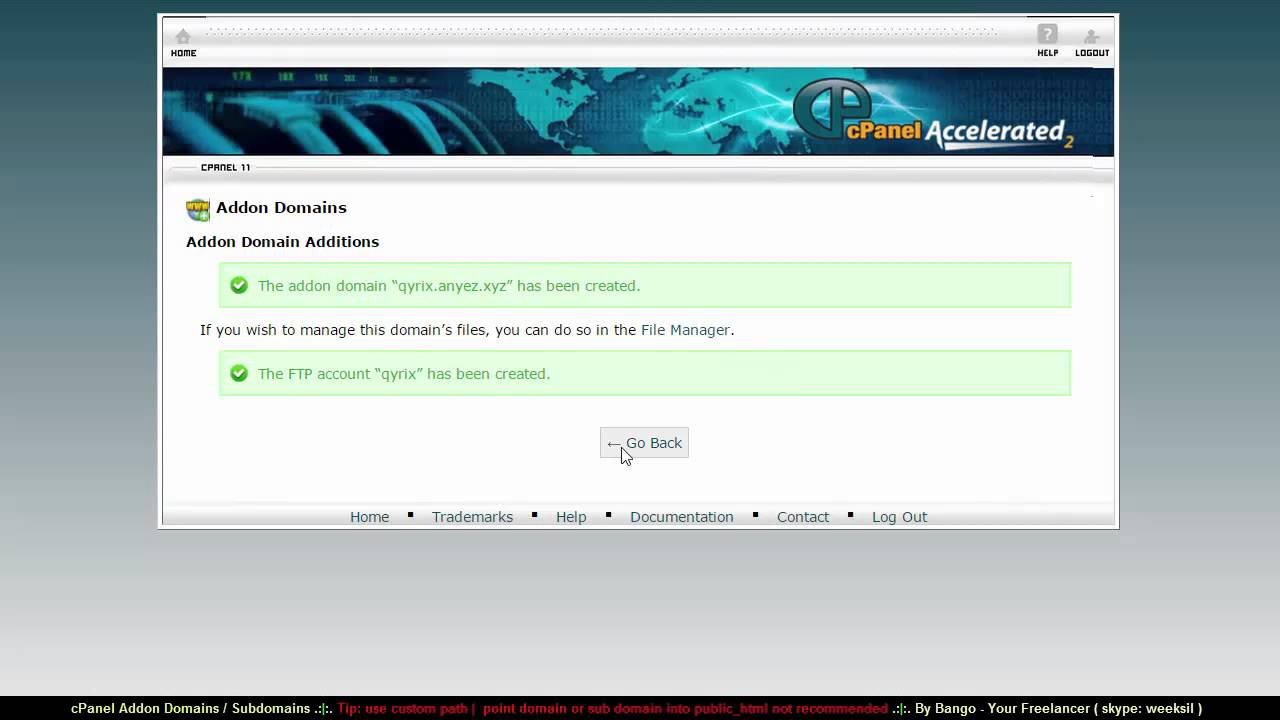 cpanel how to add subdomain