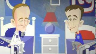 Peyton and Eli - Talking about green monsters in philadelphia